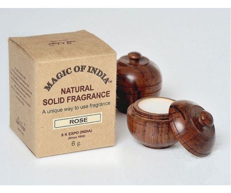 SHAMASA Naturalne perfumy w kremie ROSE trwały zapach 6g